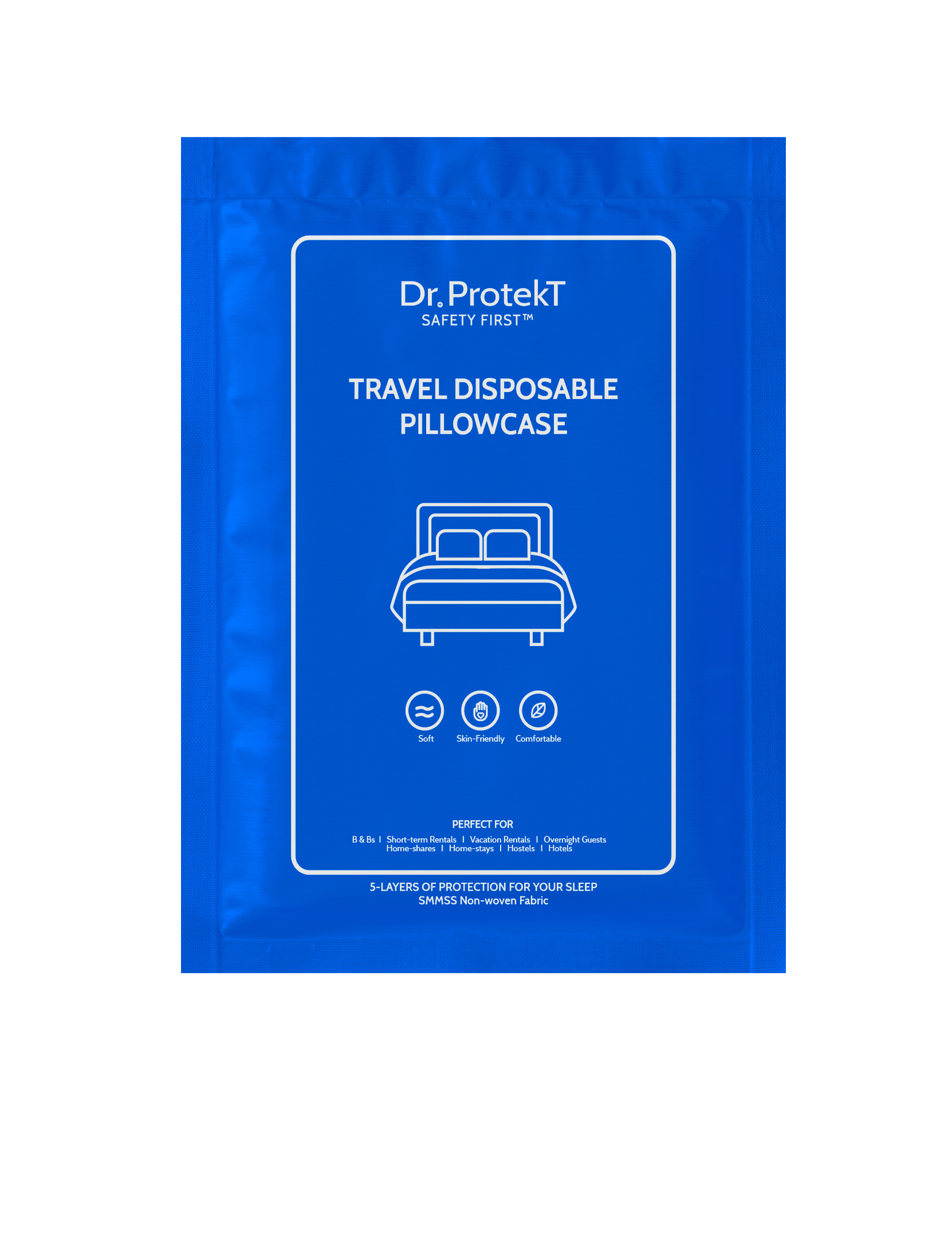 TRAVEL DISPOSABLE PILLOWCASE