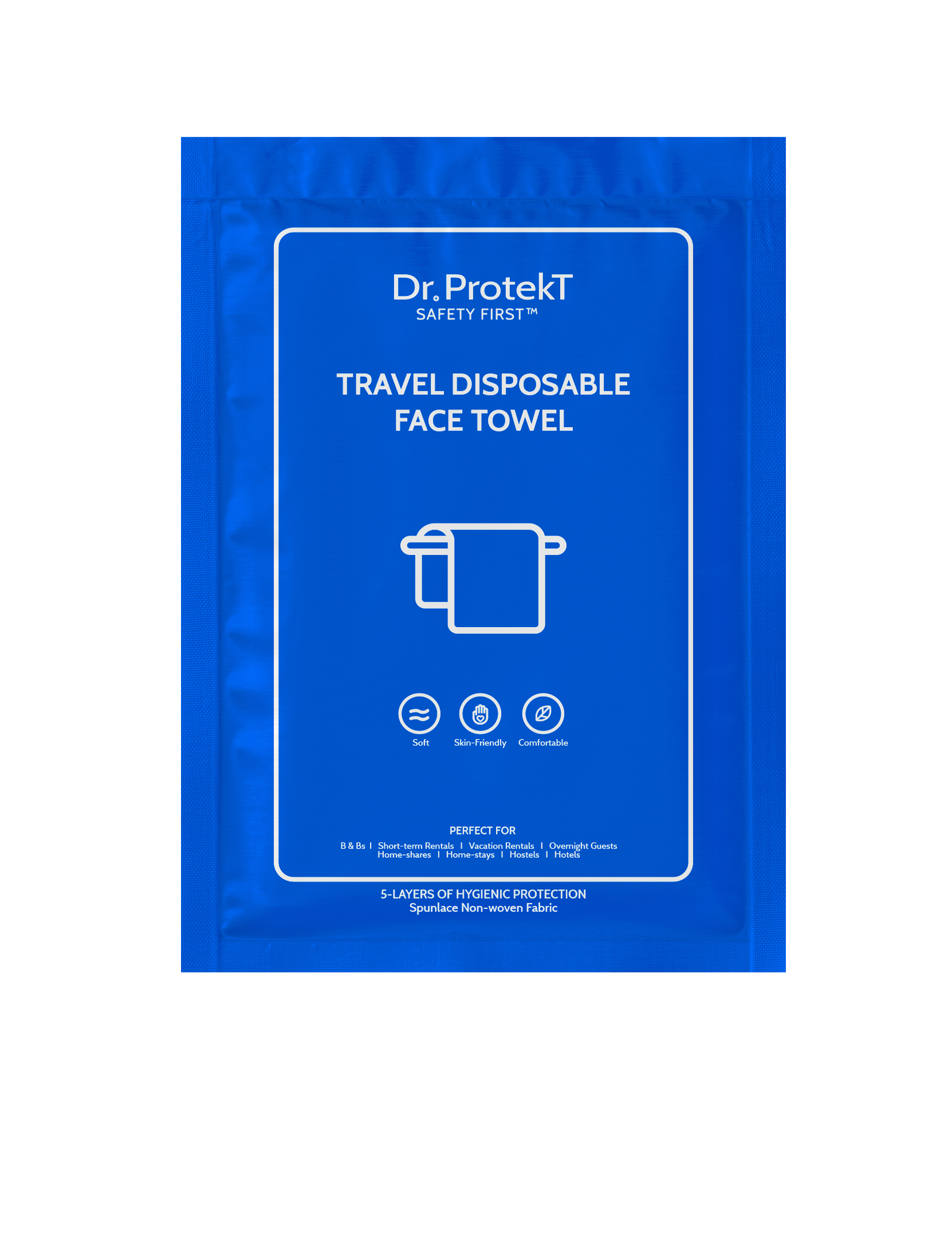 TRAVEL DISPOSABLE FACE TOWEL